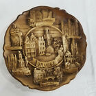 """Brugge Souvenir Bas Relief Circular 9"""" Wall Hanging Plaque Hand Painted New"""
