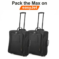 5 Cities EasyJet Max Cabin Approved Trolley Bag Hand Luggage Case Set of 2