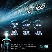 Glowteck LED Car Headlight Conversion Kit CREE XHP50 Chip H11 (H8/H9) 12000 lm