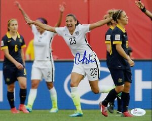 Christen Press Signed Team USA Soccer 8x10 Matte Photo JSA Authenticated