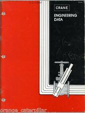 1976 Crane Engineering Data Catalog Asbestos Valves Gaskets Piping