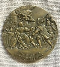 Beautiful antique and rare bronze medal  of the death of Inês de Castro, 1979