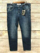 Modern Culture Jeans Mens 38X32 Med Vintage Blue Skinny Stretch Flex Luxury New