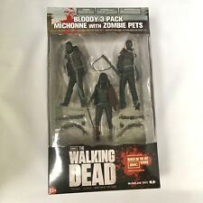 The Walking Dead: >>Bloody MICHONNE with ZOMBIE PETS - 3-Pack << !!!