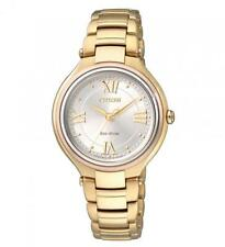 Citizen Eco-Drive FE2043-52A Women Analog Gold Tone Stainless Steel Watch
