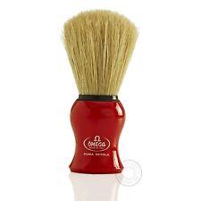 Omega 10065 pura setola Pennello da barba-Rosso