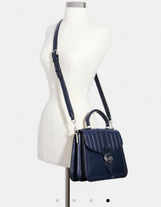 New Coach Large Georgie Top Handle With Linear Quilting #6191 Msrp $598