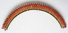 Peigne diadème Empire 19e siècle vermeil et corail coral comb tiara peineta