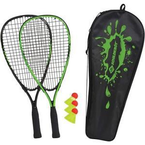 Schildkröt Speed-Badminton Set 2 handliche Aluminium-Rackets 3 Bälle Federball