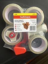 Genuine Sellotape Carton Sealer & 2 PCS Packaging Tapes Fast Delivery