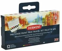 Derwent Inktense Professional Permanent Watercolour Paint Pan Travel Set # 02