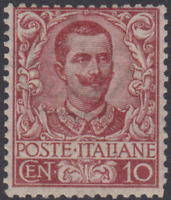 Italy Regno - 1901 Floreale - Sassone n.71 cv 2400$ super centered  MNH**