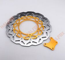 320MM enlarge Gold Front Brake Disc Rotor for Kawasaki NINJA 250R 2008-2012