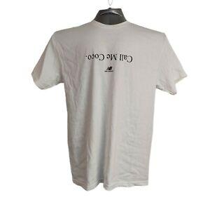 New Balance Men's Call Me Coco White T-Shirt Size L