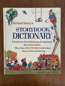 Richard Scarrys Storybook Dictionary Vintage Childrens Story Book
