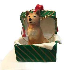Finnish Spitz Christmas Ornament Gift Box Dog Present Ornament New