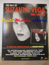 CARTONATO PROMO SUZANNE VEGA The best of Trie and true 62 X 49 CM cd dvd lp mc