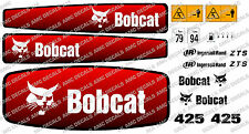 Bobcat 425 Mini Escavatrice Decalcomania Sticker Set