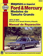 FORD & MERCURY MODELOS DE TAMANO 1975 - 1987 ESPANOL REPAIR MANUAL 99083 *(NEW*