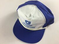 Champion Double Snapback Hat VTG Cap Publication Papers Blue White One Size Mens