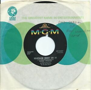 Robie Porter:Heartache hurry on by/Here in my arms:US MGM:Northern Soul
