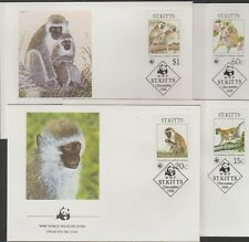 V1921 st. kitts/WWF 1986 monos MiNr 184/87 a 4 FDC