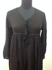 karni jaipur INDIA vintage boho black rayon long maxi gown dress for women