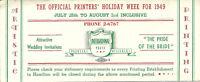 Vintage Ink Blotter Hamilton International Printers Designers Ontario Canada