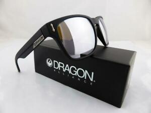 Dragon MONARCH XL Sunglasses Matte Black - Silver Ionised Lens - Made in Italy
