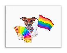 Jack Russell Perro Orgullo Gay Bandera Cartel Pintura ilustración de lona impresiones artísticas
