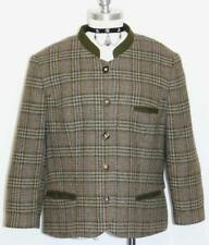 "LODENFREY PLAID Tweed WOOL Jacket Coat German Women Suit Blazer B45"" 14 L"