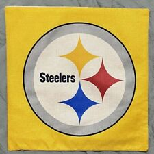 """Pittsburgh Steelers Large Throw Pillow NFL 17""""X17"""" With Cushion Free Shipping"""