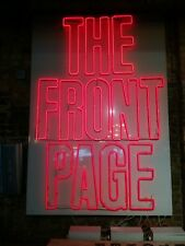 THE FRONT PAGE 1986 Vintage Neon and White Theater Sign on Dimmers