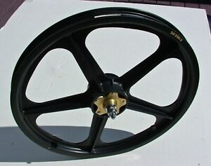 SKYWAY GRAPHITE FRONT TUFF WHEEL II MAG CAMPAGNOLO ALLOY FLANGE OLD SCHOOL BMX