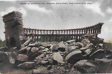 Golden Gate Park San Francisco Ruins Of Observatory Postcard 1909