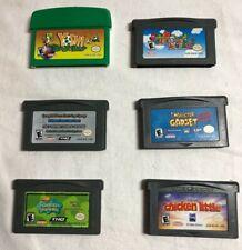 Lot of 6 Gameboy Advance Games - Yoshi, Mario, Spongebob & More - Tested