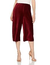 BCBG New Pleated Gaucho Pant Shorts & Skirts Women's SZ XS Wine Red
