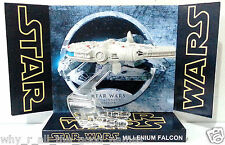 HOT WHEELS - STAR WARS Millennium Falcon Diecast Model & Custom Display Base