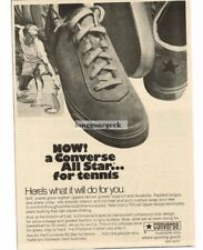 1971 Converse All Star Tennis Shoes Sneakers Vtg Print Ad