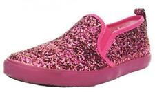 A-Line Girl's Slip On Sneaker, Pink Glitter, 28 Eu / 11 Us