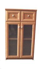 Kommode Schrank mit 2 Schubladen und 2 Türen Flur Diele Anrichte in Erle Glas