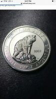 2017 GRIZZLY BEAR 1.5 OZ .999 SILVER 8 DOLLARS CANADIAN 1 1/2 #8