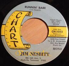Jim Nesbitt 45 Runnin' Bare / A Good Woman Is Hard To Find Chart #5052