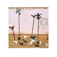 10 Assorted Doves & pigeons (OO/HO Scale) - Unpainted - Langley48