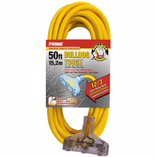 Prime Wire & Cable LT611830 50-Foot 12/3 SJTOW Bulldog Tough Extension Cord
