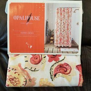"""OPALHOUSE Shower Curtain Exploded Medallion Print New 72""""x72"""""""