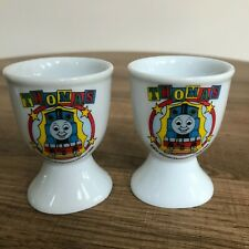 2 x Thomas The Tank Engine & Friends Ceramic Egg Cups - Britt Allcroft 1999 BBC