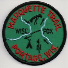 BSA Patch, Marquette Trail, Portage Wisconsin, 1960s Rolled Edge Version