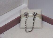 New w/Box Pandora Love Always Safety Chain Charm # 792059-05 Protect Bracelet