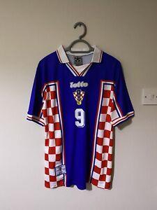 Croatia Away Shirt 1998 Size Large Davor Suker RARE